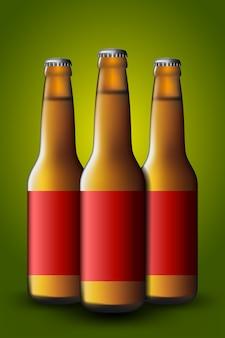 Bouteille de bière brune