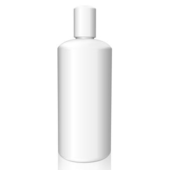 Bouteille blanche sur fond blanc
