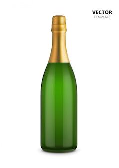 Bouteille de champagne isolé