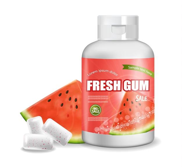 Bouteille de chewing gum