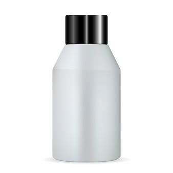 Bouteille cosmétique en argent. lotion tonique hydratante