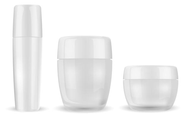 Bouteille cosmétique de crème pour le visage
