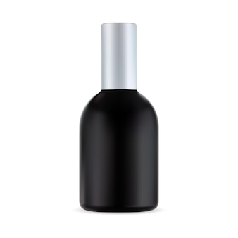 Bouteille cosmétique noire, contenant de traitement capillaire, produit pour hommes