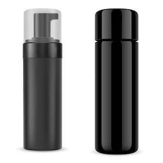 Bouteille cosmétique noire