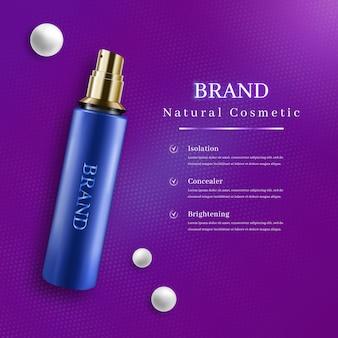Bouteille cosmétique réaliste 3d