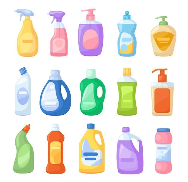 Bouteille de détergent de dessin animé nettoyant désinfectants à l'eau de javel ensemble de savon liquide antiseptique