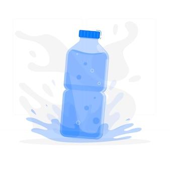 Bouteille d'eau concept illustration