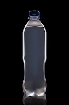 Bouteille d'eau sur fond noir