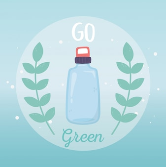 Bouteille d'eau recycler écologie environnement vert