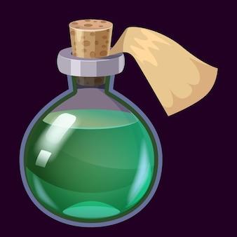 Bouteille d'élixir magique de potion liquide colorée icône de jeu gui pour les jeux d'application