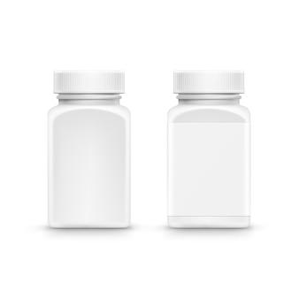 Bouteille d'emballage en plastique avec bouchon pour pilules