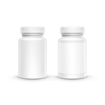 Bouteille d'emballage en plastique vierge pour pilules