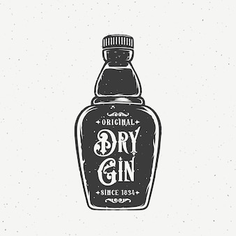 Bouteille de gin sec