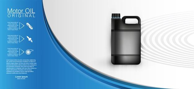 Bouteille d'huile moteur bidon d'huile moteur moteur, protection intégrale des molécules d'accrochage synthétiques.