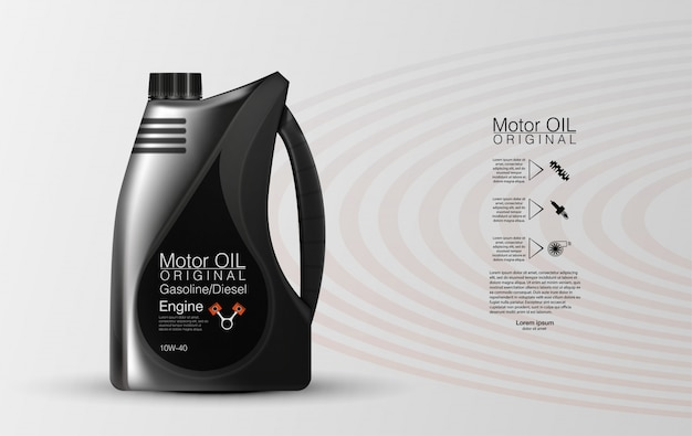 Bouteille d'huile moteur réservoir d'huile moteur, protection totale contre les molécules adhérentes synthétiques.
