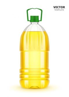 Bouteille d'huile végétale isolée