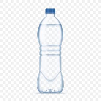 Bouteille en plastique avec de l'eau minérale