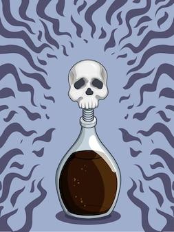 Bouteille de poison mortel