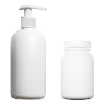 Bouteille à pompe désinfectante pour les mains pot de suppléments de vitamines