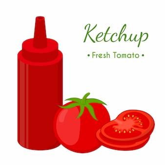 Bouteille de sauce ketchup
