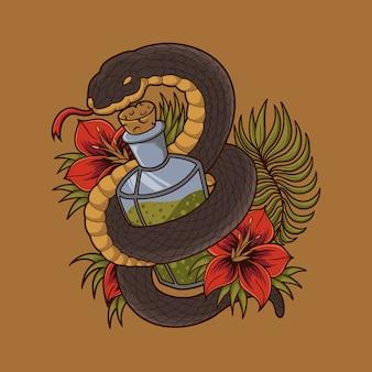 Bouteille de serpent