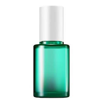 Bouteille de sérum emballage cosmétique en verre vert