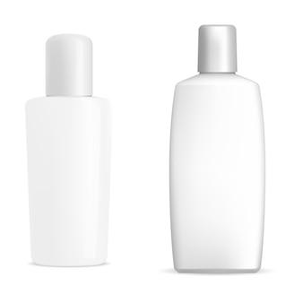Bouteille de shmpooing blanc