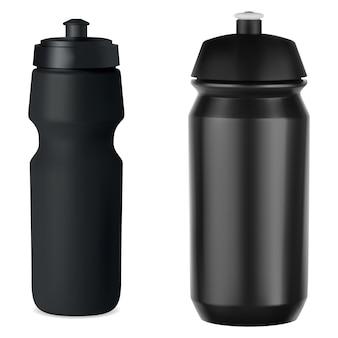 Bouteille de sport whater en plastique noir