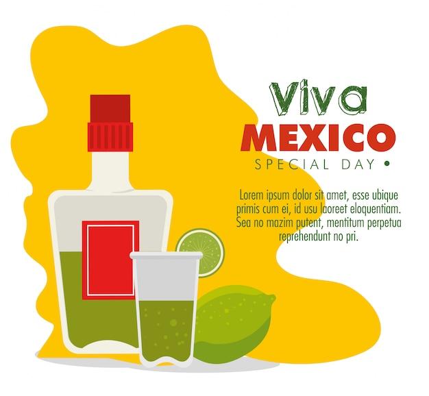 Bouteille de tequila au citron