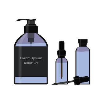 Bouteille, vaporiser. pompe à savon. flacon, flacon, flacon