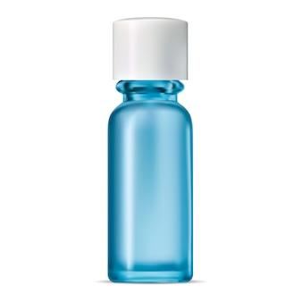 Bouteille en verre bleu