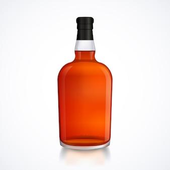 Bouteille en verre de boisson alcoolisée
