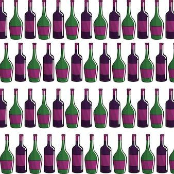 Bouteille de vin fond icône stock