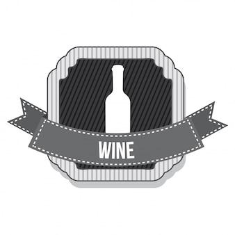 Bouteille de vin avec ruban