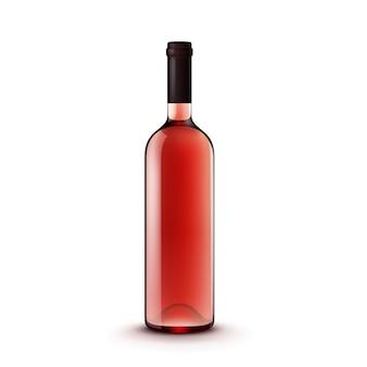 Bouteille de vin en verre de vecteur