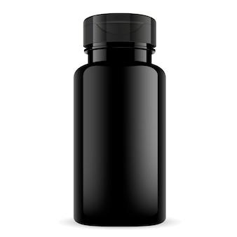 Bouteille de vitamine de supplément de sport. emballage brillant
