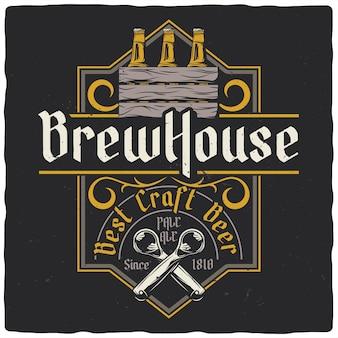 Bouteilles de bière et décapsuleur
