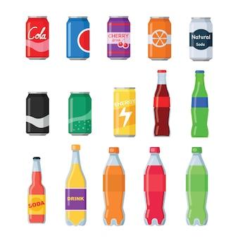 Bouteilles de boissons gazeuses