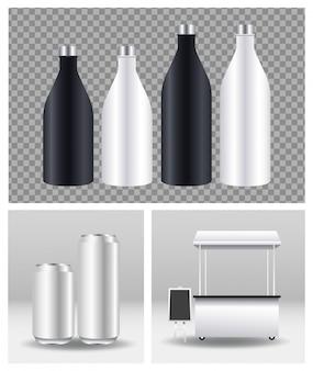 Bouteilles et canettes en aluminium