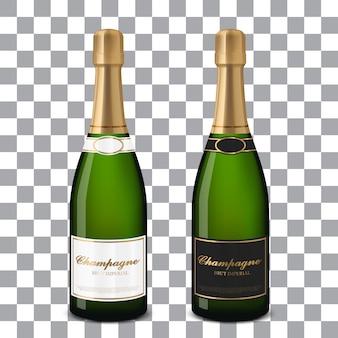 Bouteilles de champagne de vecteur