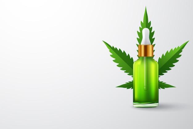 Bouteilles d'huile de marijuana et de cannabis
