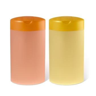 Bouteilles d'illustration de shampooing ou de lotion