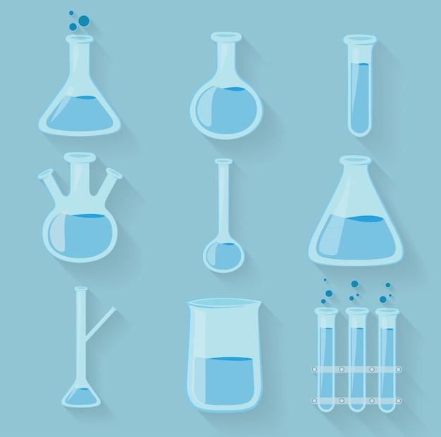 Bouteilles de laboratoire de produits chimiques