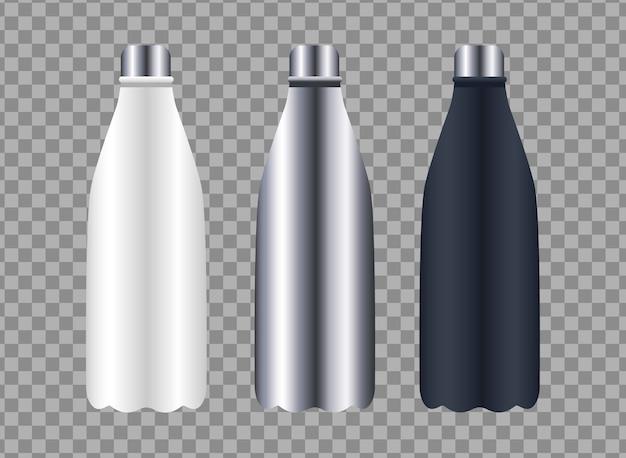 Bouteilles produits emballages icônes de marque
