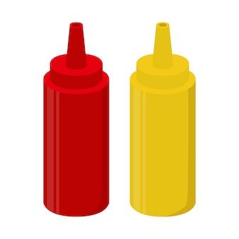 Bouteilles de sauce