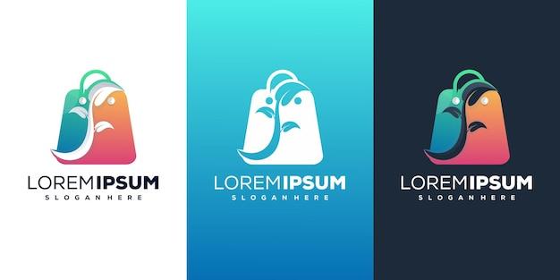 Boutique avec design de logo moderne leafe