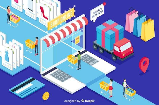 Boutique isométrique en ligne