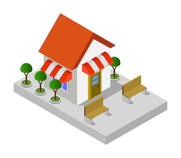 Boutique isométrique