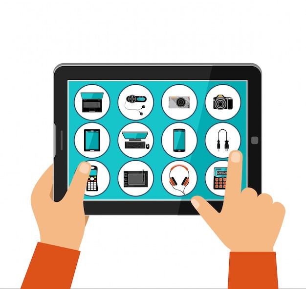 Boutique en ligne d'appareils électroménagers, concept