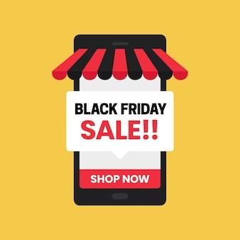 Boutique en ligne de l'application mobile black friday sale
